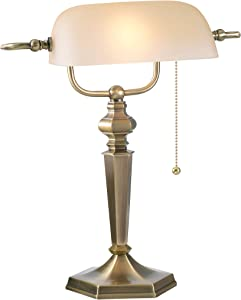 Kenroy Home Kenroy 20615GBRZ Traditional One Light Banker Lamp from Mackinley Collection Dark Finish, 9.00 inches, Golden Bronze