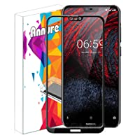 Annure Shatterproof 9H Tempered Glass for Nokia 6.1 Plus (Black)