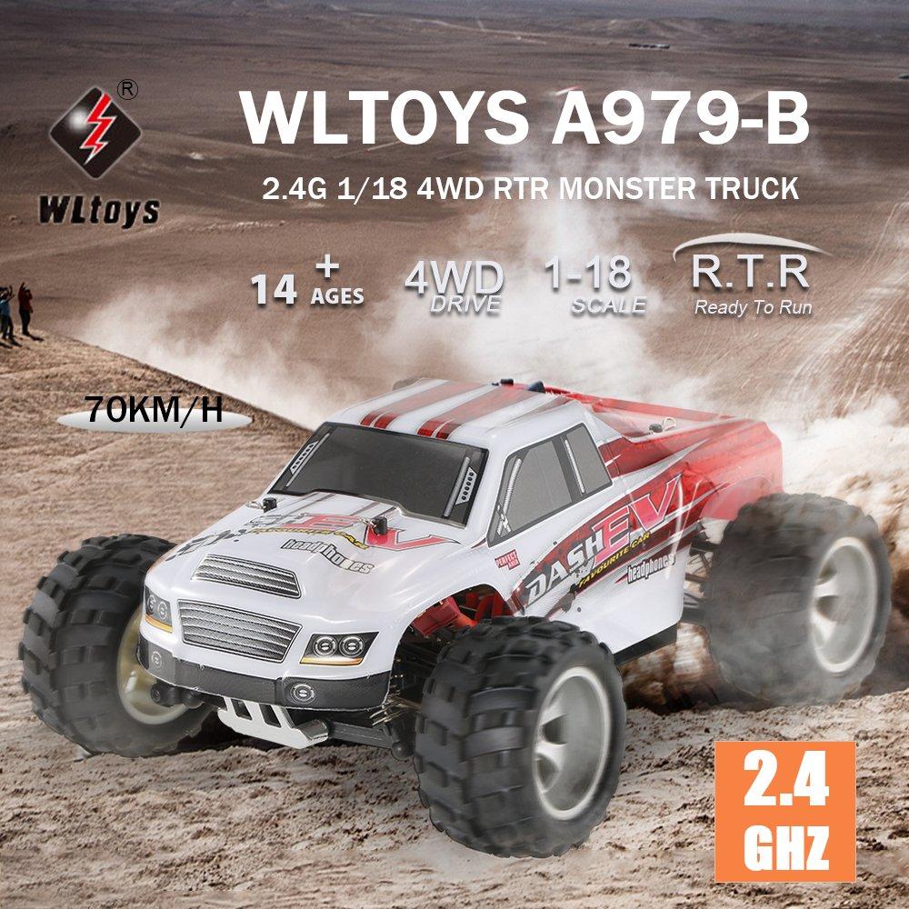 Goolsky WLtoys A979-B 2.4G 1//18 Scala 4WD 70KM h Rally elettrico ad alta velocit/à RC Rally Truck RC