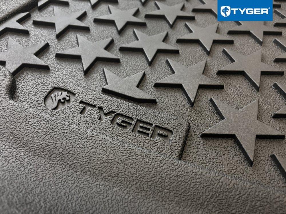 Tyger Auto Floor Liner for 2014-2018 Jeep Wrangler JK Front Floor Liners 2pc Textured Black Floor Mats