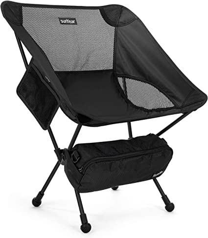 Rock Cloud Portable Camping Chair Ultralight Folding Chairs Outdoor with Legs Stabilizers for Camp Hiking Backpacking Lawn Beach Sports Green
