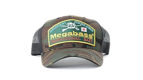c3162e49a Megabass Throwback Snapback Fishing Hat Cap (Camo/Black Mesh)