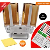 DJI Phantom Accessories Booster Range Extender Copper Parabolic Antenna Signal Range with BUNDLE Sticker Set and Cleaning Cloth - Windsurfer for Phantom 4, 3 Pro Advanced Standard & Inspire (2pcs)