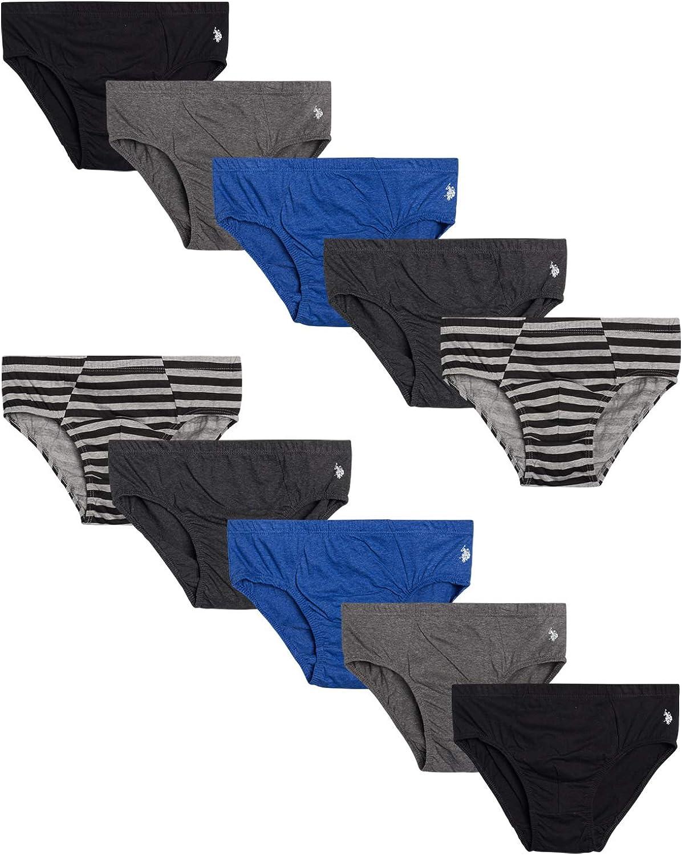 U.S. Polo Assn. Mens' Low Rise Underwear Briefs (10 Pack)