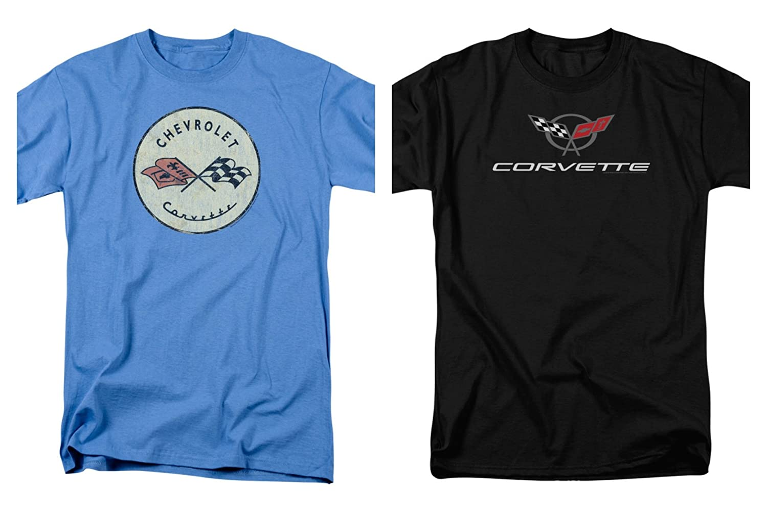 846736d9a8c7 Top1  2 Pack Combo Corvette Vette Modern   Original Logo Men s Adult T- Shirts Black   Blue