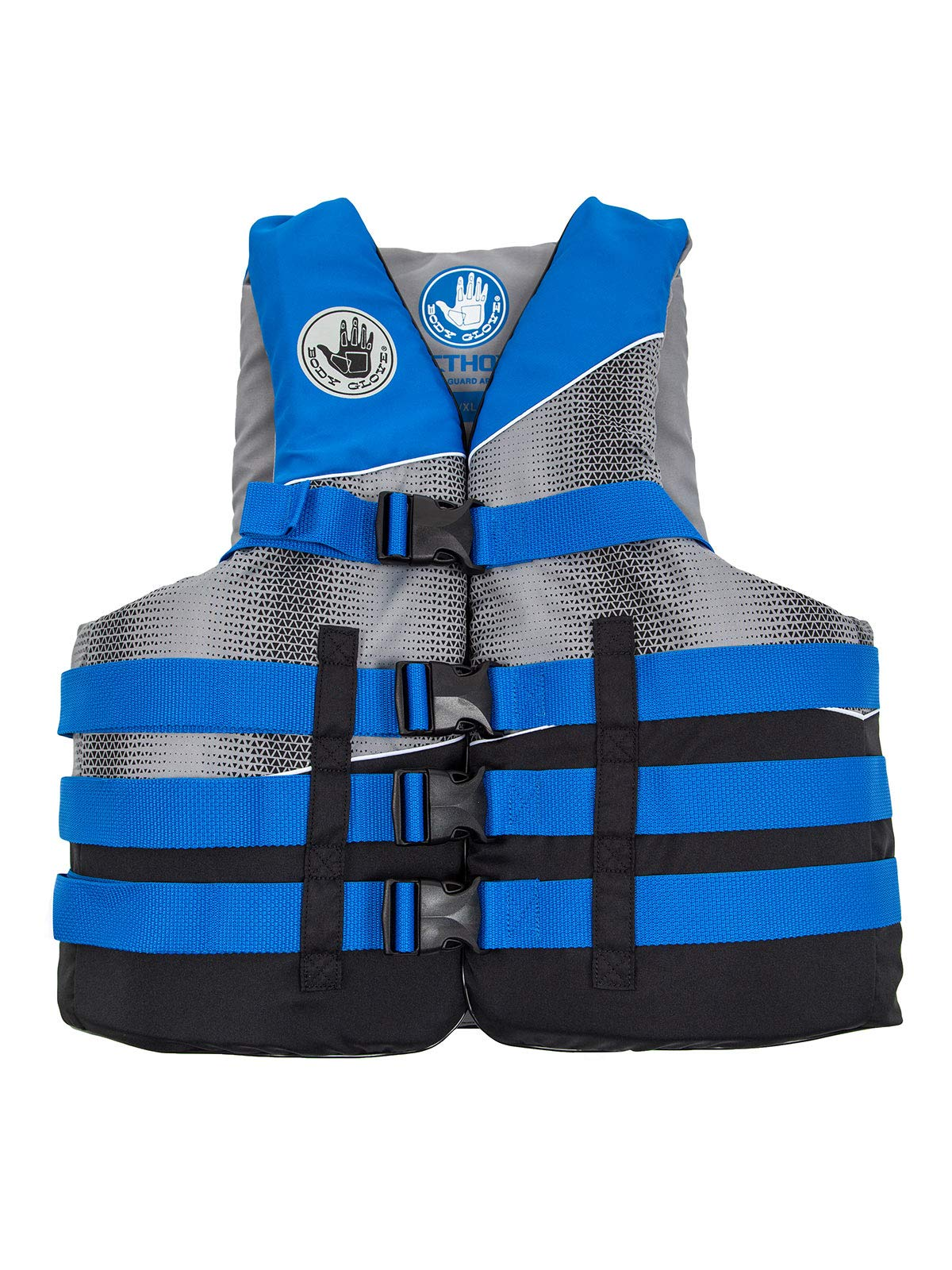 Body Glove Method USCG Approved Nylon Life Vest, X-Small, Black/Electric Blue/Silver/Grey