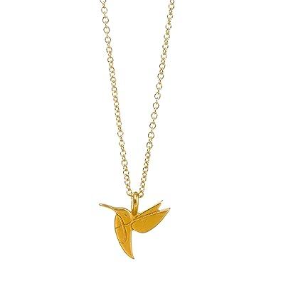 3e61f3cf5 Amazon.com: Dogeared Life Is Beautiful Sweet Hummingbird Gold Dipped Wish  16