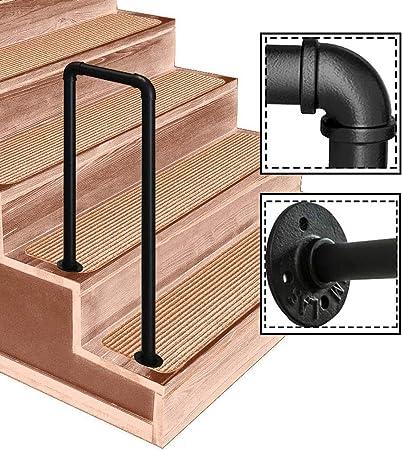 FS Pasamanos for escaleras Exteriores, barandilla Tubo de Hierro Forjado Tipo U, diámetro de 3.2cm, for jardín Exterior de Pasillo, 7 tamaños Opcionales (Size : 35cm/1.1ft): Amazon.es: Hogar