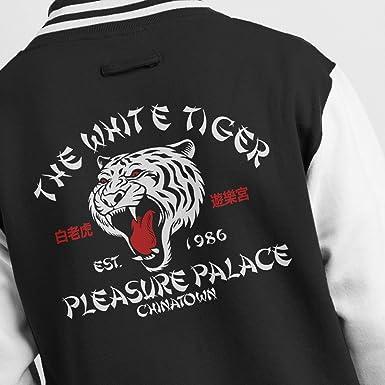 d1642c6bf70c The White Tiger Pleasure Palace Men s Varsity Jacket  Amazon.co.uk  Clothing