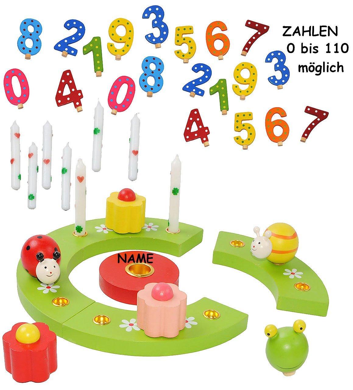 """großes Set Geburtstagszug /"""" lustige Tiere /"""" mit Zahlen 0 bis 9 Lok Eisenba"""