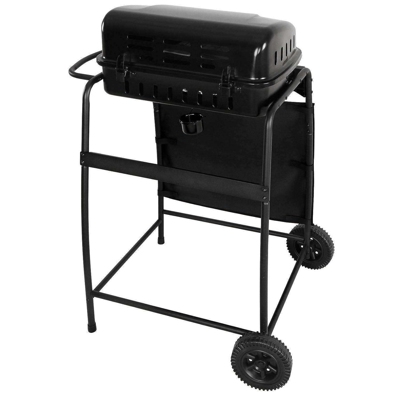 broil de Master BBQ de gas barbacoa en negro de acero ...