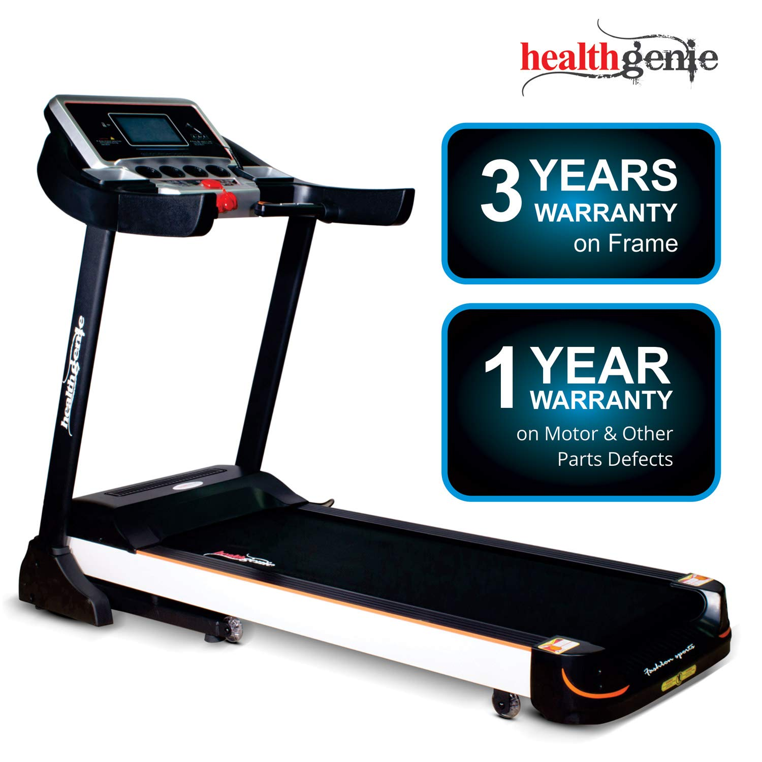 Healthgenie 4612C Commercial Motorized Treadmill For Home,