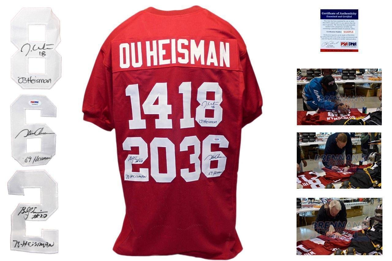759292dd8 Amazon.com  Oklahoma Heisman SIGNED Jersey - - SIMS