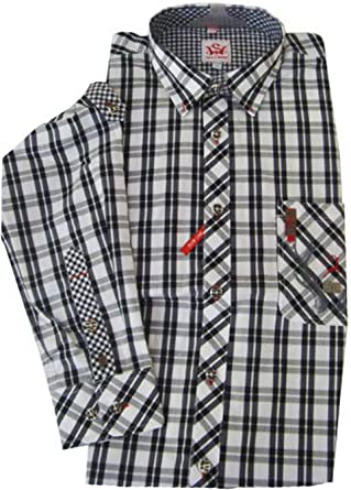 Moderno Blanco y Negro Cuadros trachent Camisa para hombre Ramon Blanco negro: Amazon.es: Ropa y accesorios