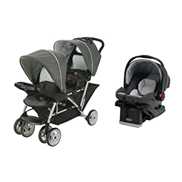 Graco DuoGlider Click Double Stroller Infant Car Seat Travel System