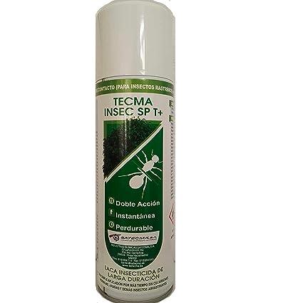 SATECMA Laca insecticida para Eliminar cucarachas e Insectos Rastreros con Efecto inmediato y de Larga duración
