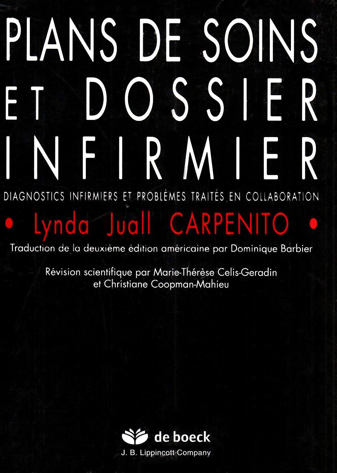 Amazon Fr Plans De Soins Et Dossier Infirmier Diagnostics