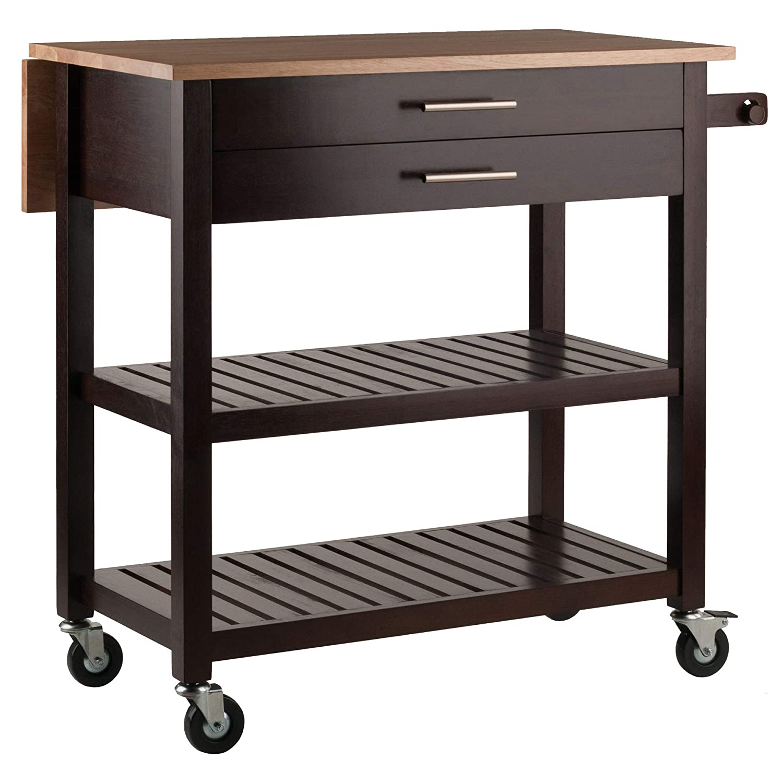 Winsome Wood 40826 Langdon Cart Kitchen, Cappuccino/Natural