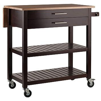 Amazon.com: Winsome Langdon carrito de cocina: Kitchen & Dining