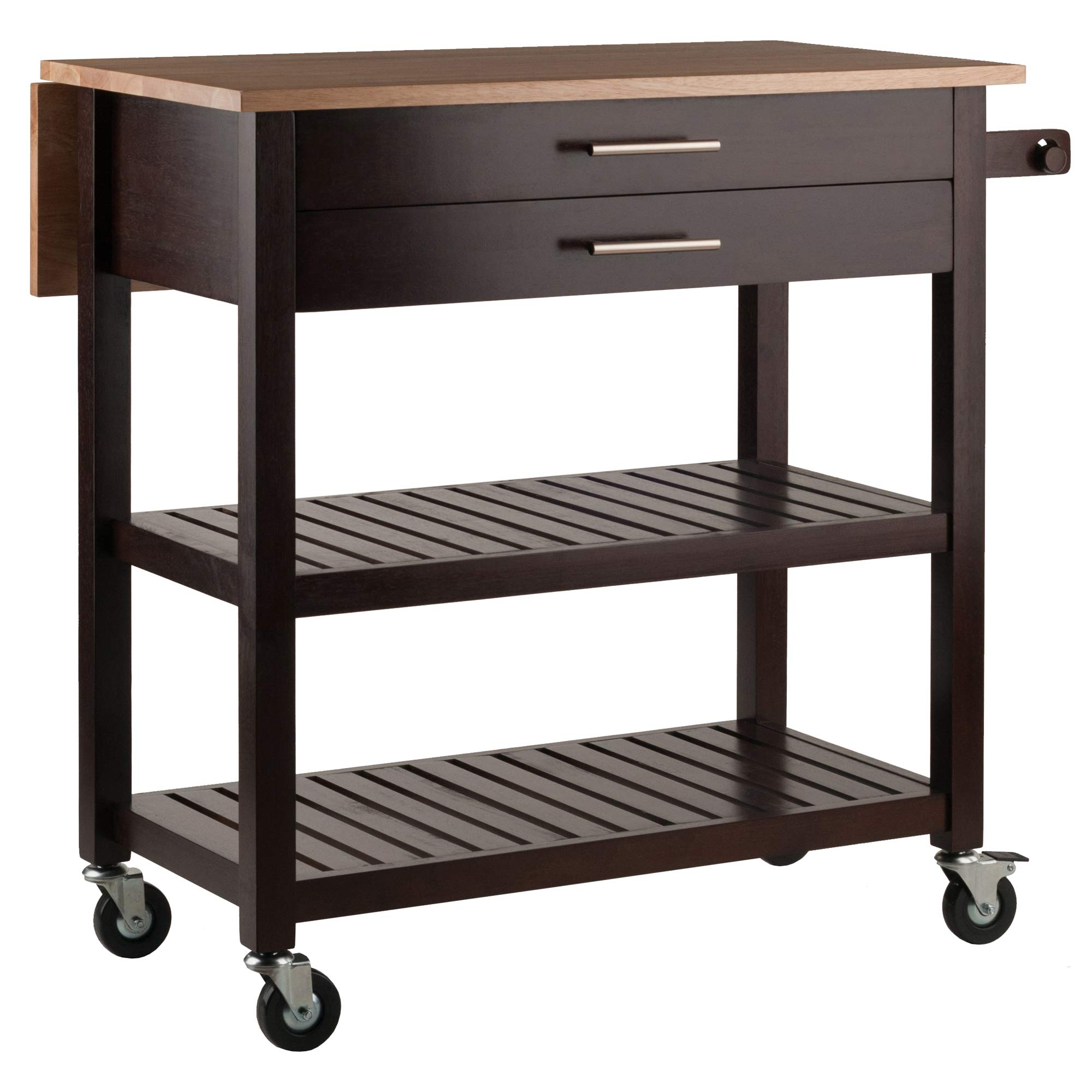 Winsome Wood 40826 Langdon Cart Kitchen, Cappuccino/Natural