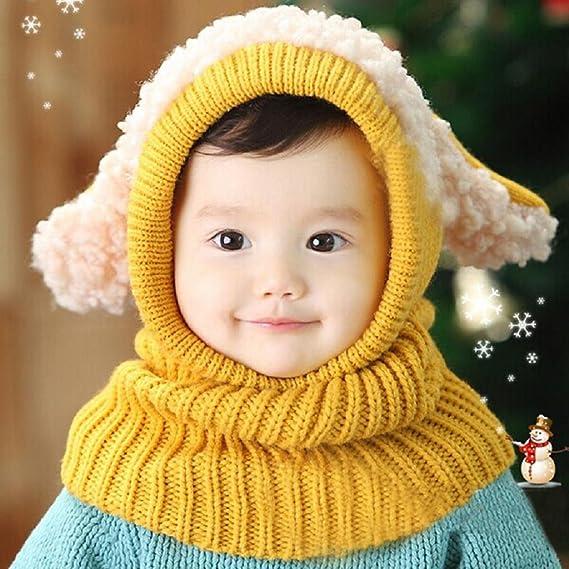 Moda de invierno nuevo beb/é encantadora linda woolen Cofia de la capilla de la bufanda capsula los sombreros RETUROM Beb/é pa/ñuelos de cuello