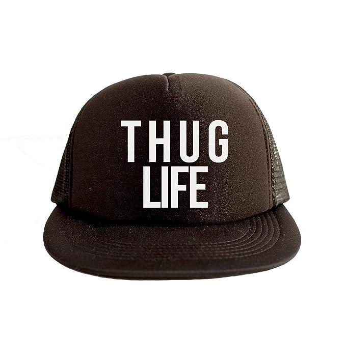 a4524bbfb02 Amazon.com  Thug Life Cool Swag Hip Hop Print 80s Style Snapback Hat ...