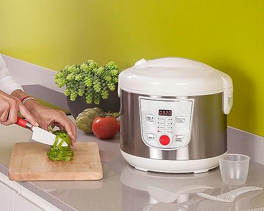 Top SHOP masterful Robot de cocina 5L antiadherente pantalla digital 8 Menu preconfigurati: Amazon.es: Hogar