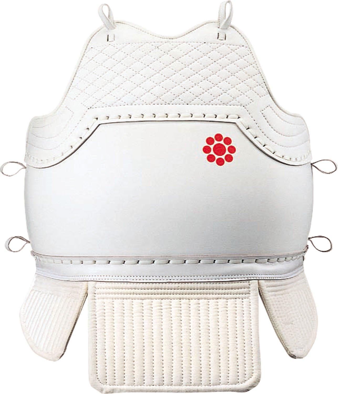 九桜 日本拳法 拳法胴(紐付き) 少年用白仕立 R300DSW