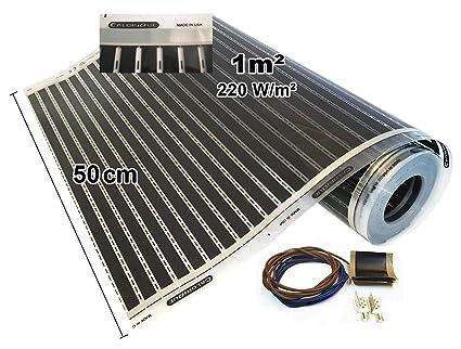 Calorique Infrarot Heizfolie Elektrische Fußbodenheizung 50 cm Set 220 W/m²  1,0 m² - effiziente und kostengünstige Heizung für Neubau oder ...