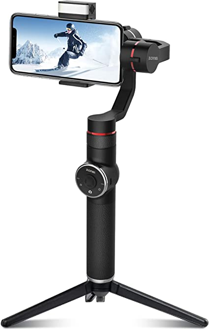 A Pocket Sized 3 axis Smartphone Handheld Gimbal Stabilizer w//Focus Pull /& Zoom for iPhone Xs Max Xr X 8 Plus 7 6 SE Android Smartphone Samsung Galaxy S9 S8 S7 S9 S8