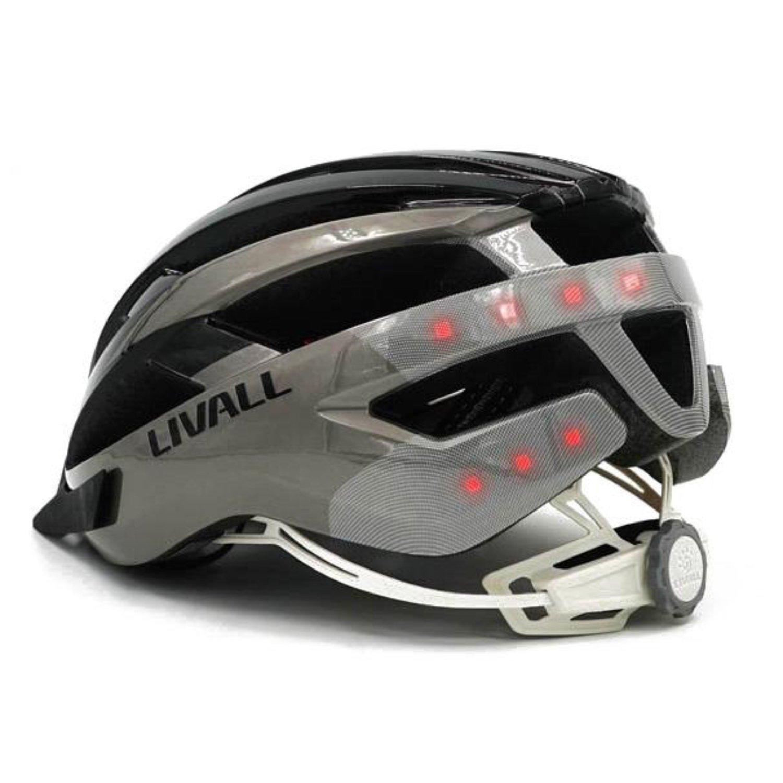 con Luces LED con Alerta SOS en Caso de accidente. Casco de Bicicleta LIVALL MT1 Gris y Negro Talla L: 58-62 cm Intermitentes con conexi/ón Bluetooth para Llamadas y Escuchar m/úsica