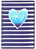 Tallon A5 Week to View Heart & Stripes Academic Mid Year Student Diary 2017-2018
