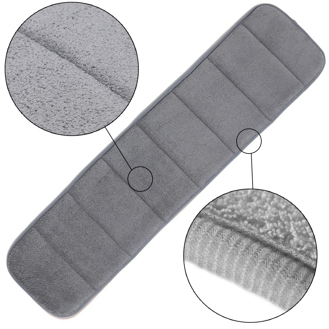 2Pcs Computer Wrist Elbow Pad, Creatiee Upgraded Wrist Rest Arm Pad(Soft, Long-sized), Keyboard Wrist Elbow Support Mat for Office Desktop Working Gaming - Less Elbow Pain (7.9 x 31.5 inch) (Gray) by Creatiee (Image #3)