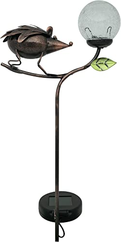 Moonrays 96349 Crackle Hedgehog Stake Light, Bronze