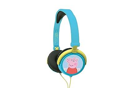Peppa Pig- Cascos Audio, Auriculares estéreo, Diadema Ajustable y Plegable (Lexibook HP015PP), 20.4 x 16.8 x 7.3 cm (