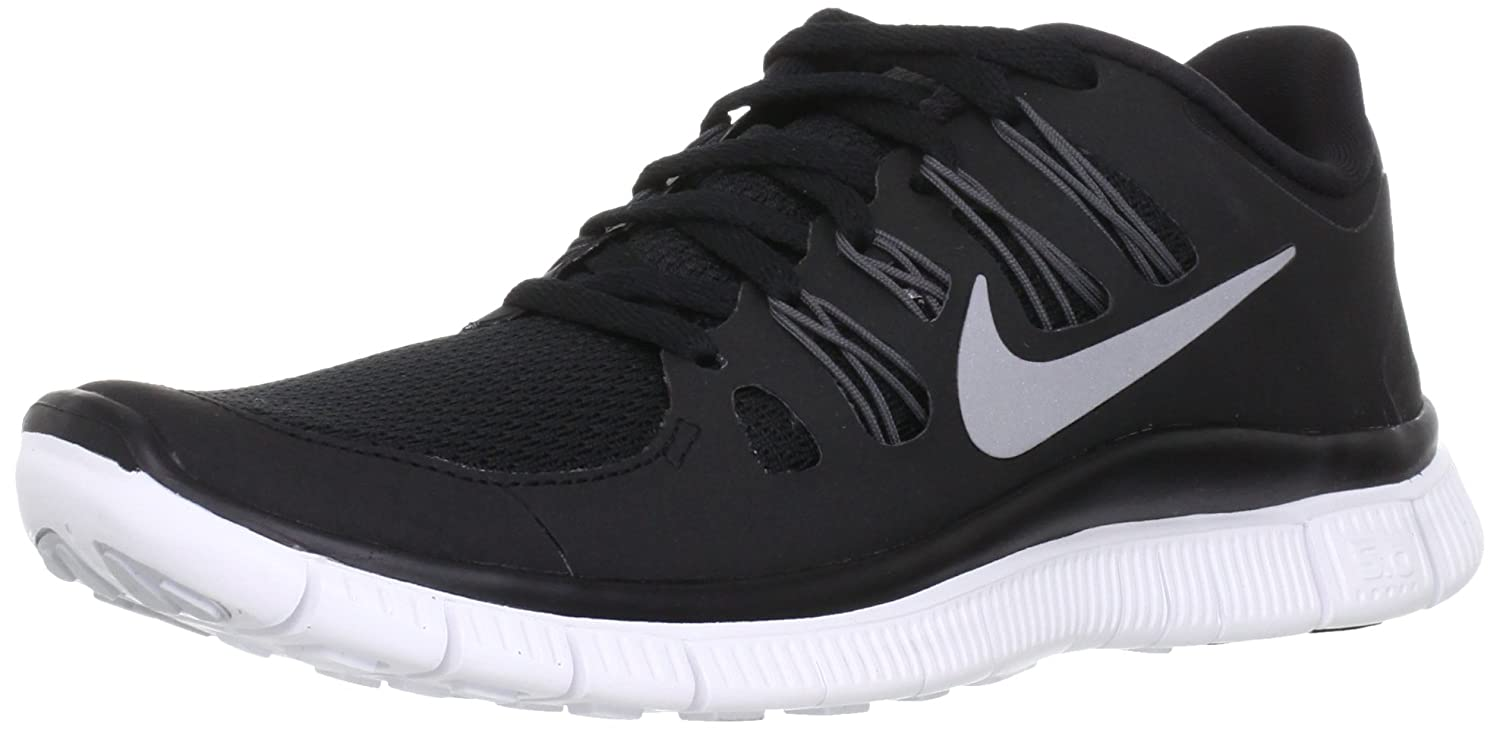 Nike Lady Free 5.0+ Running Shoes B0098SKFD2 5.5 B(M) US|Black/Metallic Silver/Dark Grey/White
