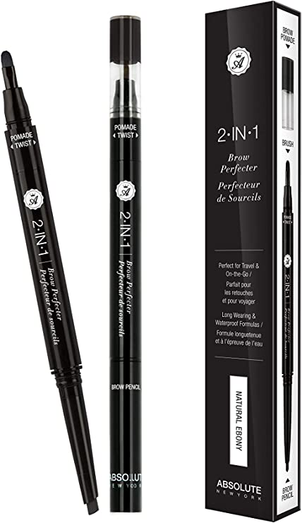 ABSOLUTE 2 In 1 Brow Perfecter - Natural Ebony (6 Pack): Amazon.es ...