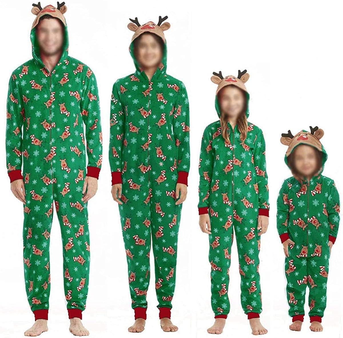 Huyghdfb Family Christmas Matching Pajamas Kids Baby Dog Xmas ...