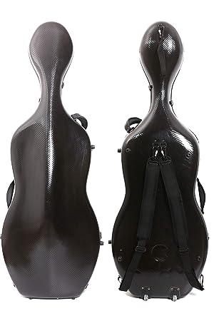 4/4 Cello caso mixto de fibra de carbono duro tamaño completo funda carcasa rígida fuerte luz 4,5 kg apoyo 300 kg presión
