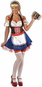 Sexy Oktoberfest Heidi German Maid Ladies Fancy Dress Costume ...