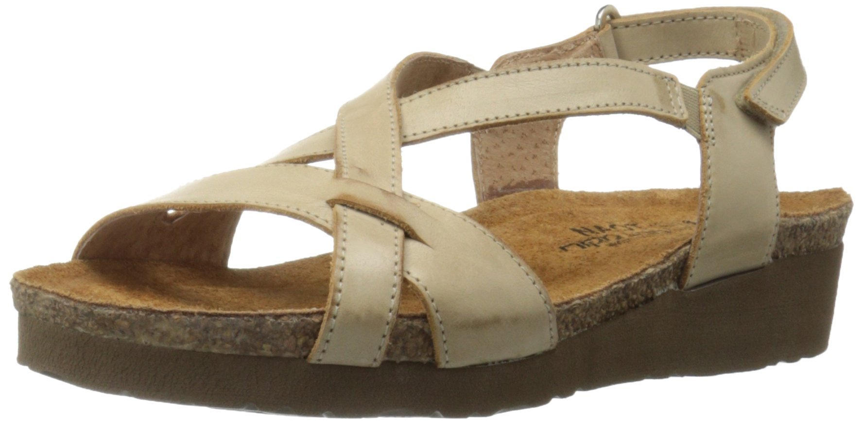Naot Women's Bernice Wedge Sandal, Biscuit Leather, 35 EU/4.5-5 M US