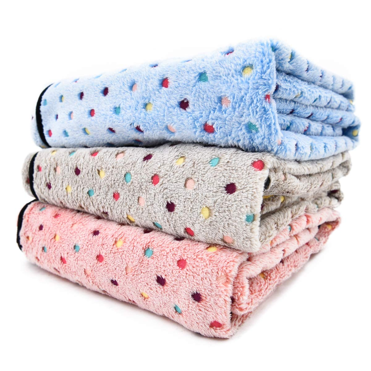 PAWZ Road Pet Dog Manta Fluffy Fleece Fabric Suave y Linda Warm Dot Print Manta Lavable para Gatos y Perros Beige 140 * 100cm: Amazon.es: Productos para ...
