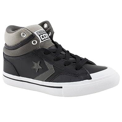 7480980249c029 Boy Junior Converse Pro Blaze Black - Grey Leisure Trainers Size 5 ...