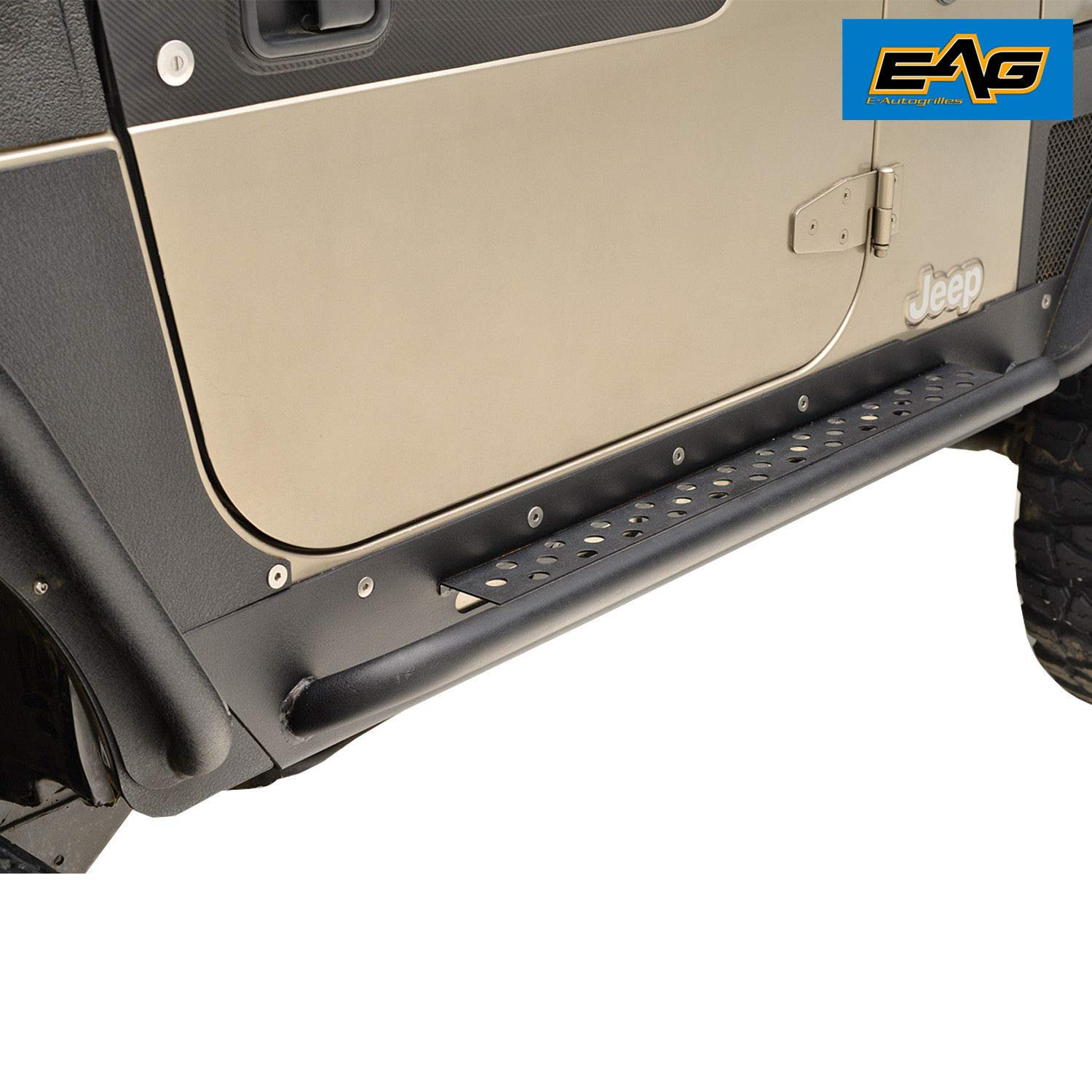 EAG Rock Guard With Step Off Road for 97-06 Jeep Wrangler TJ