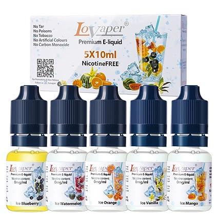 Cigarrillo Electrónico ELiquido 5x10ml Paquete de líquido premium Vape, ELíquido alto VG - Naranja,