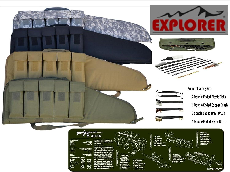 Tactical .223/5.56 mm resistente estuche para escopeta táctica .223/5.56 mm ODG TekMat & 15 PC táctico .223/5.56 mm Kit de limpieza: Amazon.es: Deportes y aire libre