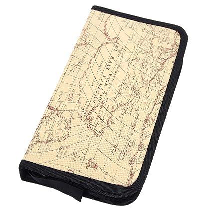 Amazon.com: mochiglory EVA patrón de mapa del mundo bolsa de ...