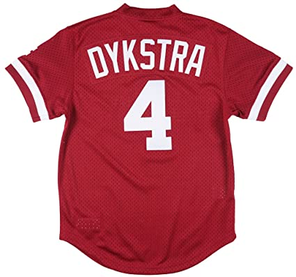 516a202edc00 Mitchell   Ness Philadelphia Phillies Lenny Dykstra 1991 Cooperstown Maroon  Authentic Practice Jersey (Small)