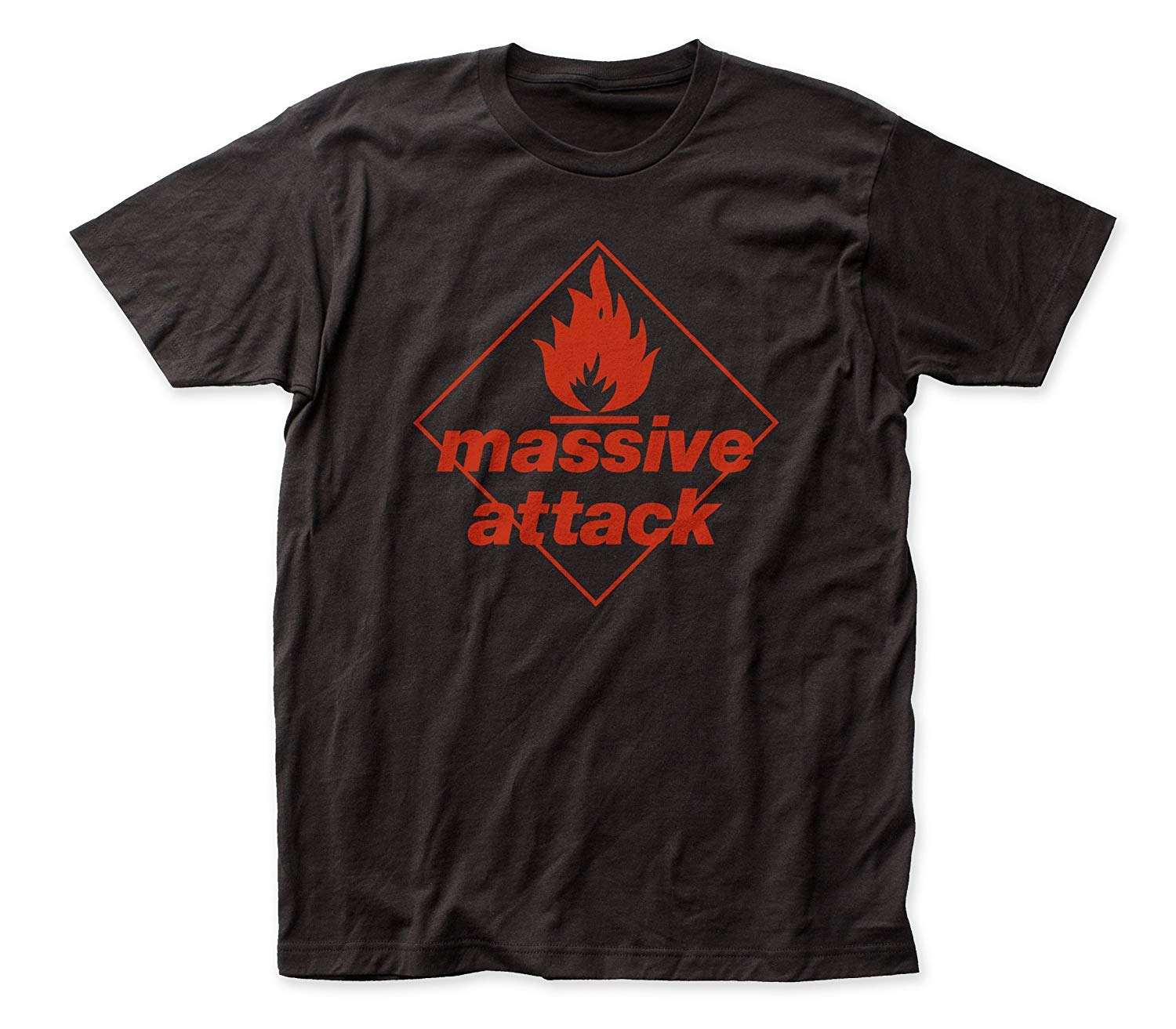 Impact Massive Attack Blue Lines Soft Fitted 30/1 Cotton Tee (Medium)