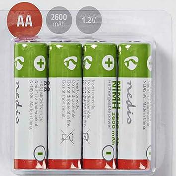 tronicxl 4 Pieza batería AA 1.2 V 2600 mAh para teléfono inalámbrico Siemens GIGASET 2010 2011 2012 2015, 2015, 2020 3010 3060 3075: Amazon.es: Electrónica
